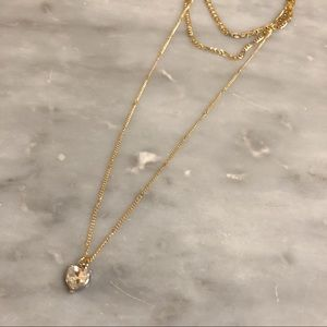 Urban Outfitters gold necklace set